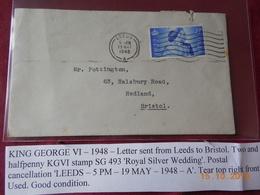 Lettre D Angleterre De 1948 A Destination De Bristol - Marcophilie