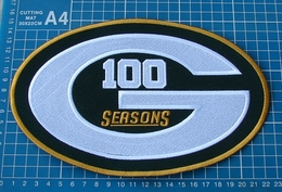 100 Seasons Green Bay Packers NFL Football TeamHuge Superbowl Patch Embroidery - Habillement, Souvenirs & Autres