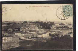 3414. MONTPELLIER . PANORAMA . RECTO/VERSO.   . ANNEE . 1907 - Montpellier