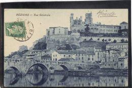 3416. BEZIERS . VUE GENERALE . RECTO/VERSO.   . ANNEE . 1926 - Beziers