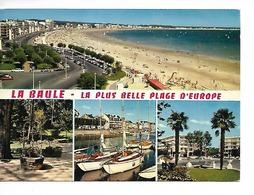 44 LA BAULE /CPM Multivues N° 1360 : Vue Générale De La Plage, Parc Dryades, Port, Place Palmiers/ Voy; 1973/ BON ETAT - La Baule-Escoublac