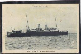 35123 . SAINT MALO . LE BATEAU DE SOUTHAMPTON  (recto/verso)  ANNEE  1934 .  EDIT. GUERIN . MILITARIA - Saint Malo