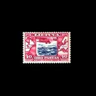 Litauen / Lietuva / Lithuania: 'Darius & Girėnas - Atlanic Nonstop Flight, 1934, Mi. 386; Yv. PA.85; Sc. C80 * - Lithuania