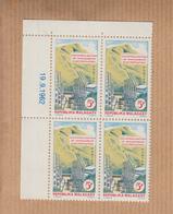 "MADAGASCAR   Neuf    Bloc De 4   Coin Date    Le 19 9 1962    "" Electrification 5F  ""   YT Num 372 - Madagascar (1960-...)"