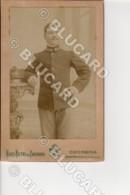 29868 CREMONA MILITARE 1900 RITRATTO MASCHILE COLONNINA SIGARETTA CARTONCINO RIGIDO 12,5x8 FOTO GIUS. BETRI ZAGNONI - Illustratori & Fotografie