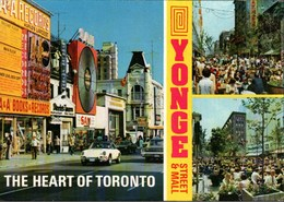 ! Ansichtskarte Aus Toronto, Yonge Street, Autos, Cars, Automobiles, KFZ, PKW, Porsche, Plattenladen, Records Shop - PKW