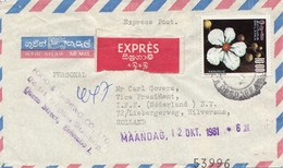 Ceylon: 1981: Express Colombo To Holland - Sri Lanka (Ceylan) (1948-...)