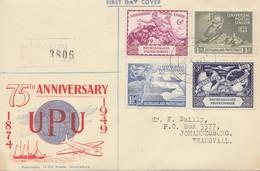 Bechuanaland: 1949 Registered UPU Anniversary To Johannesburg/Transvaal - FDC - Botswana (1966-...)