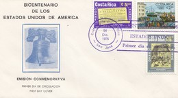 Costa Rica: 1976: Bicentario Des Los Estado Unidos De America FDC - Costa Rica