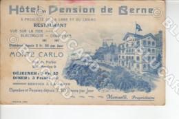 29890 MONACO MONTE CARLO HOTEL PENSION DE BERNE CASINO LIEVE ABRASIONE SU ROULETTE VERY SMALL ABRASION ON ROULETTE - Monte-Carlo
