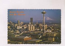 CPM SEATTLE, SPACE NEEDLE And MT RAINIER En 1972! - Seattle