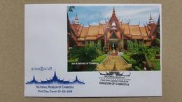 CAMBODGE / CAMBODIA/ FDC Block ( Imperf )  The National Museum 2018. - Cambodia