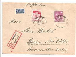 Bauten Mi85 + 90.R-Brief München>Berlin - American/British Zone
