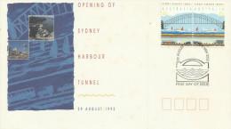 Australia 1992 Opening Of Sydney Harbour Tunnel, Sydney Postmark, FDC - FDC