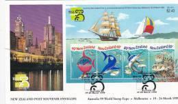 New Zealand 1999 World Stamp Expo Mini Sheet FDC - FDC