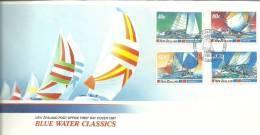 New Zealand 1987 Blue Water Classics  FDC - FDC