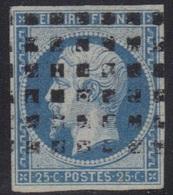 Napoléon N°15, Petit Pelurage De Charnière, Voir Scan, Oblitéré Points Carrés, Cote 300,00 €. - 1853-1860 Napoléon III