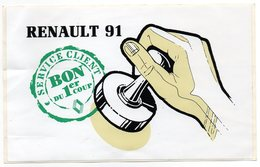 AUTOCOLLANT   RENAULT 91      SERVICE CLIENT - Autocollants