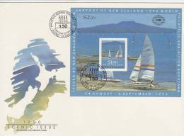 New Zealand 1990 Scenic Issue Souvenir Sheet  FDC - FDC