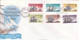 New Zealand 1975 Sailing Ships FDC - FDC