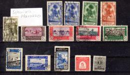 Spanisch-Marokko; Kleine Sammlung; Gem. Scan, Gestempelt  Los 50141 - Briefmarken