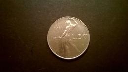 MONETA COINS ITALIA ITALY REPUBBLICA ITALIANA 50 LIRE 1961 VULCANO OTTIMA CONSERVAZIONE - 1946-… : Republic