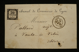Taxe 25c N°5 Sur Lettre Lyon 13/08/1875 - Taxes