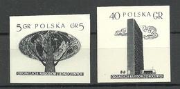 POLEN Poland 1957 Michel 999 - 1000 * PROOF ESSAY Probedruck - 1944-.... Republik