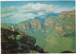 Three Rondawels , Sandstone, Blyde River - Eastern Transvaal - (South Africa) - Zuid-Afrika