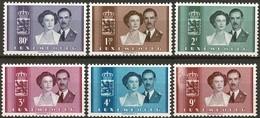 1953: Mariage Jean-Josephine Carlotte, Série 6 Timbres Neuf Sans Charnière Michel:505-510 - Luxembourg