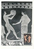 D35444 CARTE MAXIMUM CARD 1964 GREECE - ATHLETES DISCOBOLE OLYMPICS CP ORIGINAL - Atletiek