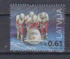 Latvia 2018  Mi 1038 Used Olympic Bobsleigh - Latvia