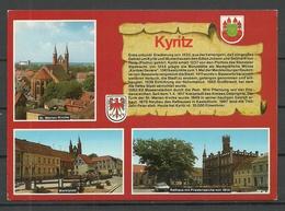 Deutschland Ansichtskarte KYRITZ 1995 Gesendet, Mit Briefmarke - Kyritz