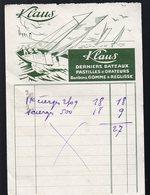 Facturette KLAUS  Confiserie  (PPP15428) - Food