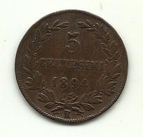 1894 - San Marino 5 Centesimi - San Marino