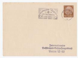 DT-Reich (002665) Propaganda Postkarte Mit Propagandastempel Austausch- Lager 1938, Des Lehrerbundes Vom Fels - Deutschland