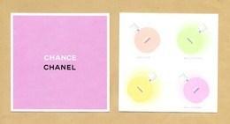 Carte Parfumée Perfume Card CHANCE * CHANEL * R/V - Perfume Cards