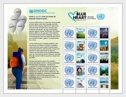 Verenigde Naties / United Nations - Postfris / MNH - Sheet Mensenhandel 2018 - Gezamelijke Uitgaven New York/Genève/Wenen