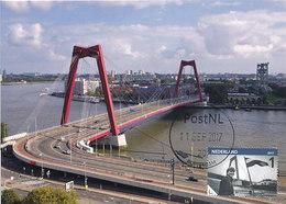 D35454 CARTE MAXIMUM CARD RR 2017 NETHERLANDS - WILLEMSBRUG ROTTERDAM BRIDGE PONT BRÜCKE CP ORIGINAL - Bridges