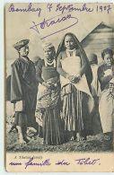 A Tibetan Family (carte Recollée) - Tibet