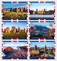 Verenigde Naties / United Nations - Postfris / MNH - Complete Set Werelderfgoed, Groot-Brittannië 2018 - Gezamelijke Uitgaven New York/Genève/Wenen