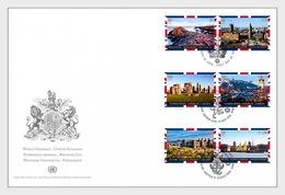 Verenigde Naties / United Nations - Postfris / MNH - FDC Werelderfgoed, Groot-Brittannië 2018 - Gezamelijke Uitgaven New York/Genève/Wenen