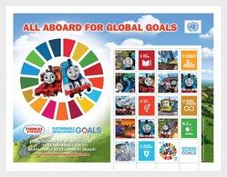 Verenigde Naties / United Nations - Postfris / MNH - Sheet Global Goals 2018 - Gezamelijke Uitgaven New York/Genève/Wenen
