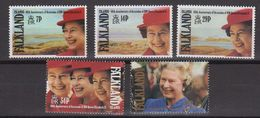 Falkland Islands 1992 40th Anniversary Accession Of Queen Elizabeth 5v ** Mnh (40961A) - Falklandeilanden