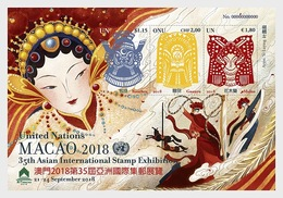 Verenigde Naties / United Nations - Postfris / MNH - Sheet Stamp Exhibition Macao 2018 - Gezamelijke Uitgaven New York/Genève/Wenen