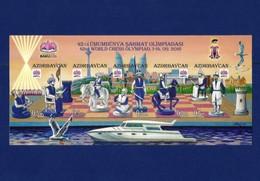 AZERBAIJAN 2016.  INPERFORATE S/Sheet   -42 -nd WORLD CHESS OLYMPIAD 2016 - Azerbaiján