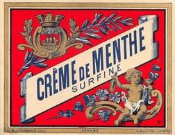 """0226 """"CRÊME DE MENTHE SURFINE """" ETICHETTA ORIG. - Other"""
