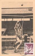 D35459 CARTE MAXIMUM CARD 1956 POLAND - ATHLETICS HAMMER THROW CP ORIGINAL - Athletics