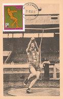 D35460 CARTE MAXIMUM CARD 1966 POLAND - ATHLETICS HAMMER THROW CP ORIGINAL - Athletics