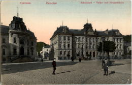 Tetschen Schulplatz Volks Und Bürgerschule - Czech Republic